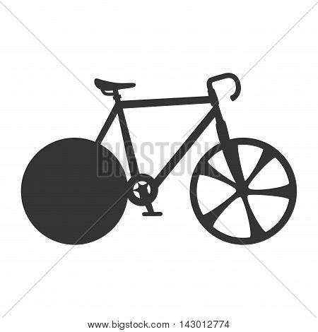 cyclist sport bicycle wheels training exercise vector illustration isolated