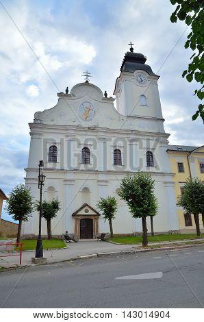 LEVOCA SLOVAKIA - AUGUST 18 2015: New Minorite Monastery in Levoca Slovakia.