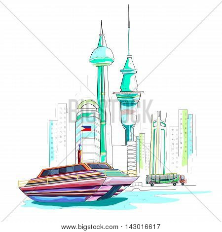 easy to edit vector illustration of Philippines cityscape