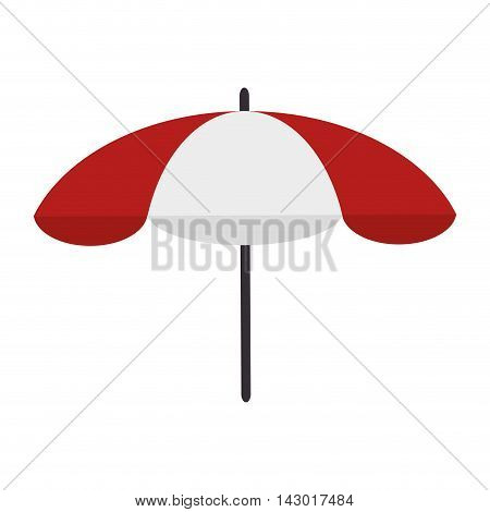 parasol summer beach stripe sea vacation protection vector illustration isolated