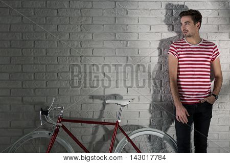 Colour-coordinated With His Bicycle