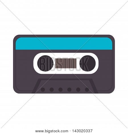 cassette old object label retro record data sound tape vector illustration isolated