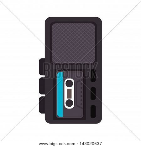 radio recording broadcast recorder news equipment electronic vector illustration isolated
