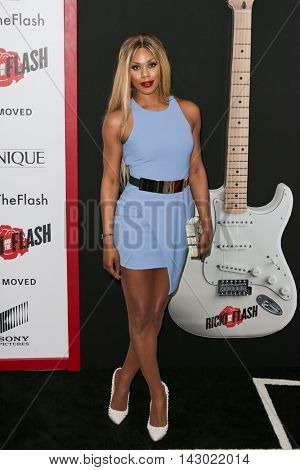 NEW YORK-AUG 3: Actress Laverne Cox attends the 'Ricki And The Flash' New York premiere at AMC Lincoln Square Theater on August 3, 2015 in New York City.