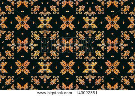 Damask background pattern design floral pattern from decorative ornament elements