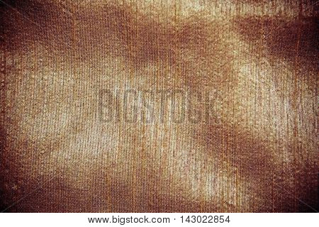 Golden Clothing Fabric Texture Background. Text Space