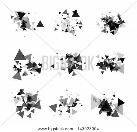 A collection of stand-alone monochrome black elements for design of posters cards brochures and site titles. Isolated objects on white background can be edited 4. Vector illustration