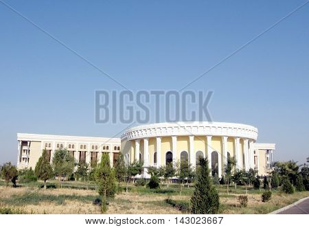 View to Conservatory in the city of Tashkent the capital of Uzbekistan