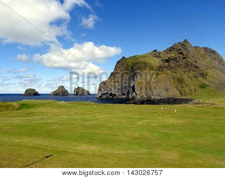 Heimaey and its volcanic islands in Westmann Islands, off the South Coast of Iceland