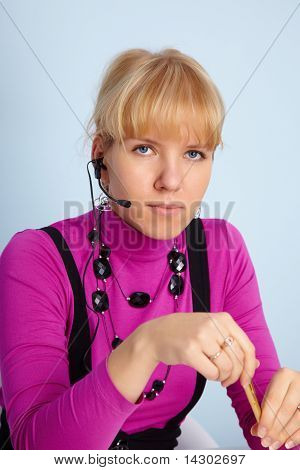 Young Girl - Worker Of Call Center