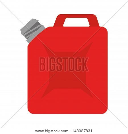 oil bottle gallon liquid tool fuel mechanic industry vector illustration isolated