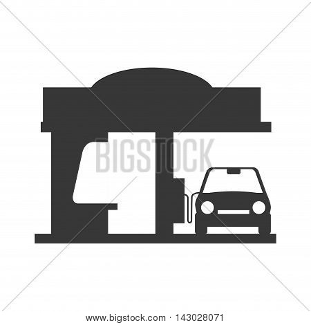 gas station industry industrial car pump gasoline vector illustration isolated