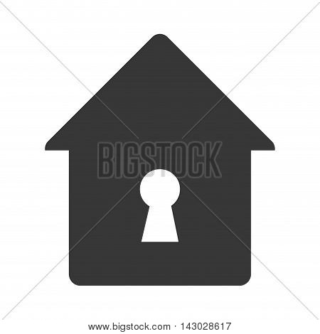 lock house home hole key security safety safeguard object closed vector illustration isolated