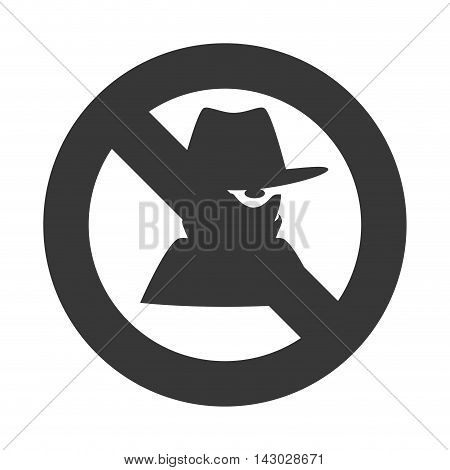 thief blocked security protection spy robber vector illustration isolated