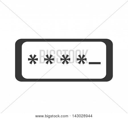 password login data safety user protection security code vector illustration isolated