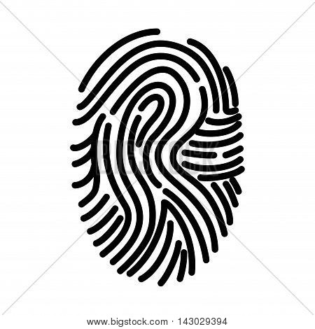 fingerprint finger human person id biometric ink personal vector illustration isolated