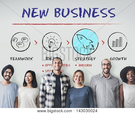 New Business Begin Launch Growth Success Concept