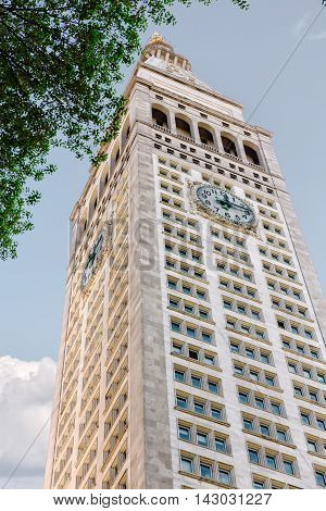 Clock Tower In Madison Avenue