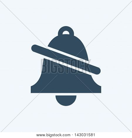 Ringing bell icon, reminder and notification silent mode