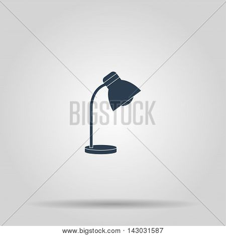 Reading-lamp. Single flat icon. Concept illustration for design.
