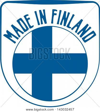 Made in Finland badge sign. Vector illustration