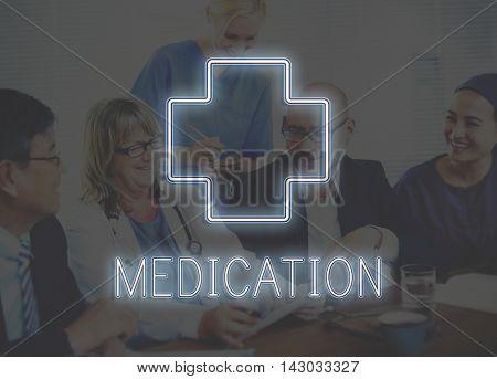 Hospital Cross Health Treatment Icon Graphic Concept