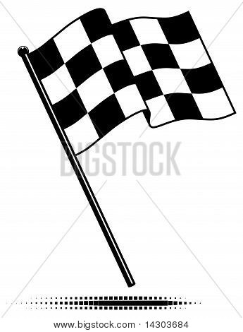 Single Checkered Flag (Waving Above)