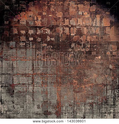 Glamour vintage frame, decorative grunge background. Aged texture with different color patterns: yellow (beige); brown; black; red (orange); gray; pink