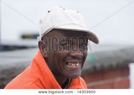 Happy Elderly African American Man