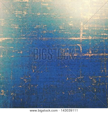 Retro style abstract background, aged graphic texture with different color patterns: yellow (beige); blue; gray; cyan; pink