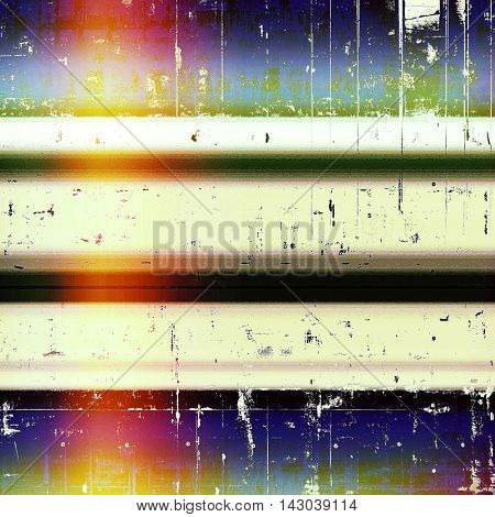 Old style design, textured grunge background with different color patterns: black; green; blue; red (orange); purple (violet); white