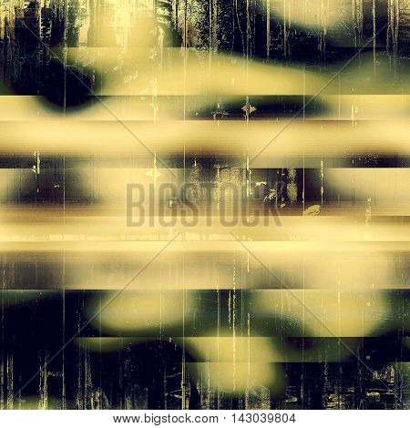Vintage torn texture or stylish grunge background with ancient design elements and different color patterns: yellow (beige); brown; black; green; purple (violet); gray