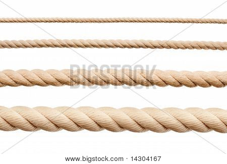Ropes Isolated On White