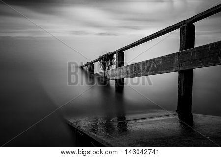 pier at lake konstanz long time exposure