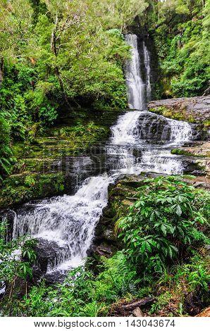 Mclean Falls In New Zealand