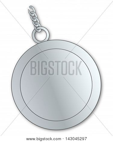 A typical lucky charm well worn over a white background