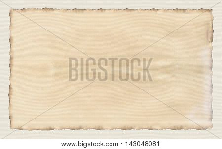 Old paper textures - background with space for text. Digital Illustration. Watercolor. Burned edges paper frame. Leather paper texture vintage. Old Paper Retro.