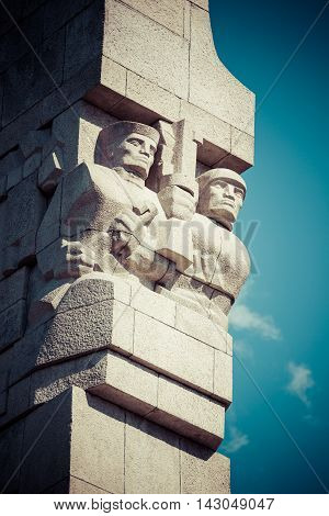 Westerplatte. Monument commemorating first battle of Second World War and Polish Defense War