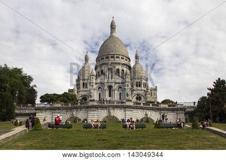 The Basilica of the Sacred Heart. Sacre-Coeur. Paris. France.