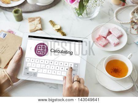 Digital Calculator Webpage Application Concept