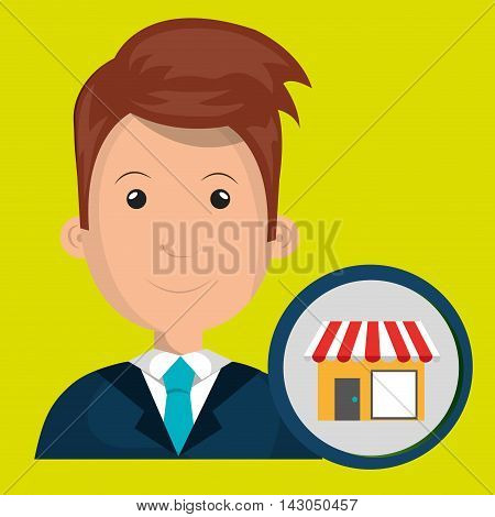 man store market icon vector illustration graphic