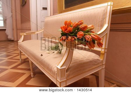 Sunny Flowers On Arm-Chair