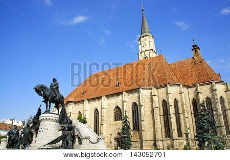 The Church of Saint Michael is a Gothic-style Roman Catholic cathedral in Cluj, Transylvania, Romania, Europe