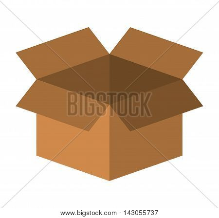 box carton packing isolated icon vector illustration design