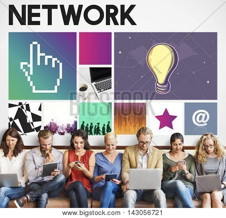 Computer Network Homepage Html Graphic Web Concept