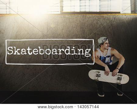 Skateboarding Skater Skate Skating Style Sports Concept
