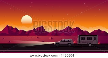 Suv And Trailer