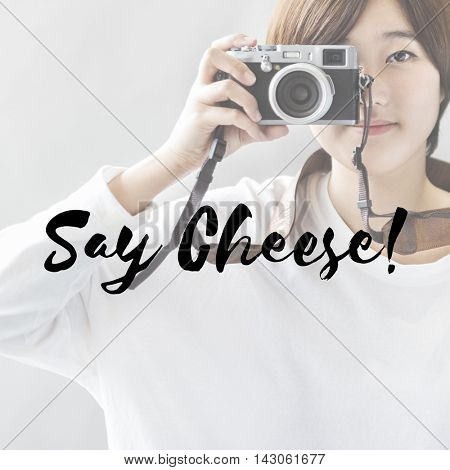 Say Cheese Photo Shutter Smiling Concept