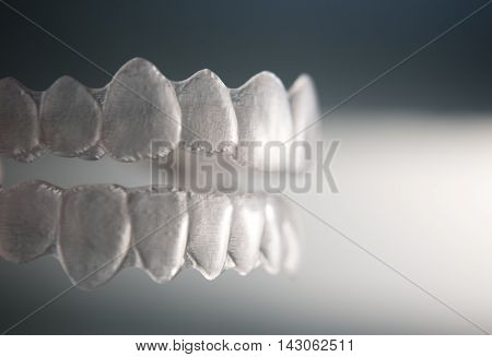 Invisible Dental Teeth Brackets Tooth Aligners Plastic Braces Retainers To Straighten Teeth.