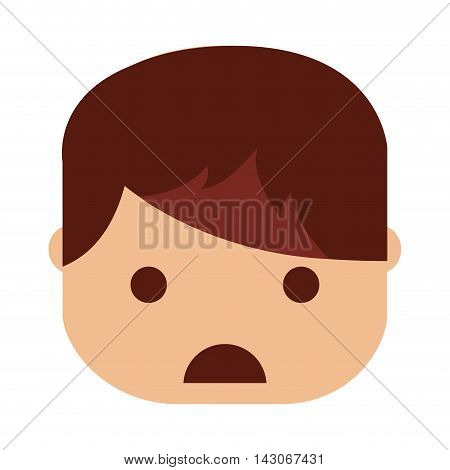 depressed person character isolated vector illustration design vector illustration design